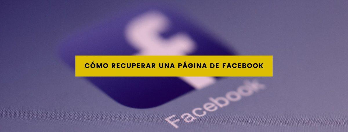 pagina de facebook como recuperarla